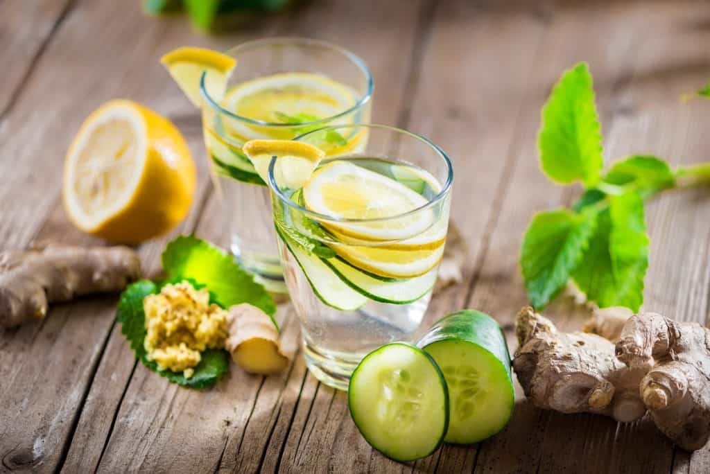 Drink Lemon Cucumber Water During a Fast